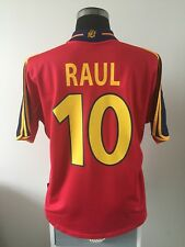 RAUL #10 Spain Home Football Shirt Jersey 1999-2002 (L)