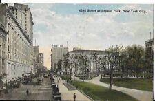 42nd st at bryant park nyc postcard DATED1914