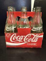 Vintage Coca Cola Classic 6 Pack 8 OZ. Bottles Empty with Original Carton
