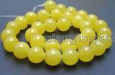 "SALE High quality Round 12mm Yellow jade gemstone beads strands 15""-los375"