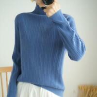 Damenmode Wolle Pullover Rollkragen Krempelbarer Kragen Lagenlook 3 Jahreszeiten
