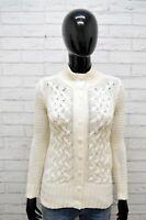 GAP Donna Cardigan Taglia XS Maglione Maglia Pullover Cotone Caldo Sweater