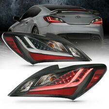ANZO LED Taillights Smoke for 10-13 Hyundai Genesis 2DR - 321347