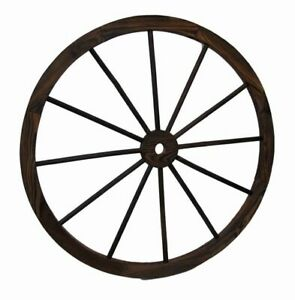 "Wagon Wheel 32"" Wooden Large Decorative Home Garden Yard - Western Wood Rustic"