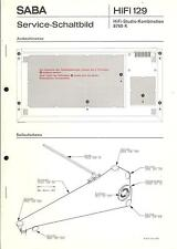 Saba original Service Manual para HiFi Studio 8760 K