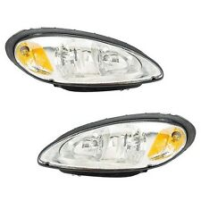 Chrysler PT Cruiser 01-05 Pair Set of 2 Front Headlights Head Lamps Eagle Eyes