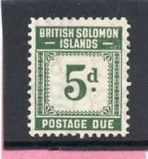 Solomon Isles GV1 1940 postage due 5d sg D5 VLH.Mint