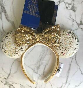 Disney Parks Disney World 50th Anniversary Minnie Ears Light Up Headband New