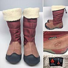 KEEN Hofn Warm Women's Waterproof Winter Boots Fleece Lined Leather/Textile Sz 7