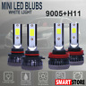 MINI 9005+H11 Combo LED Headlight Bulbs Conversion Kit High Low Beam 6000K White