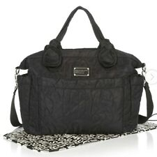 Marc by Marc Jacobs Quiled Black Diaper Shoulder Bag + Changing Pad MBMJ