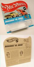 2 Hot Wheels Redline  Snake and Mongoose  BP Empty Blister Cards one set
