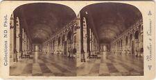 Galerie des Glaces Versailles Stereo Photo Neurdein Vintage albumine ca 1885