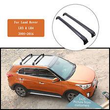 For 2005-2016 Land Rover Discovery LR3 & LR4 Black Roof rack Bar Cross Kit New