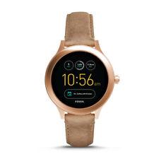 Fossil Gen 3 Q Venture Smartwatch, Rose Gold, Sand Leather FTW6005