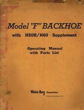 Wain Roy Backhoe Model F Operators Parts Manual