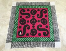 "Yves Saint Laurent Multi-Patterned Large 53"" Cotton Scarf"