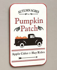 Autumn Acres Pumpkin Patch Apple Cider & Hay Rides Halloween Metal Wall Sign