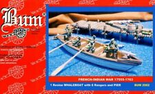 BUM 1:72 THE FRENCH-INDIAN WAR 1754 -1763 - Roger's Rangers Whaleboat - RARE SET