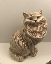 """Vintage Ceramic Persian Cat (Large) 14 1/2"""" w/ Inset Eyes. Very Nice Condition."""