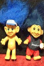 Lot Vintage Russ Forest MLB Baseball Yankees Blue Jays Vinyl Rubber Troll Dolls