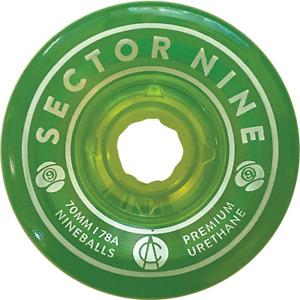 SECTOR 9 NINEBALLS 70mm 78a GREEN WHEELS SET