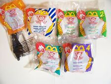 1995 McDonald's Happy Meal Fast Food Lot/6 VR Troopers Set U3T #1 - #4 MIP C10!