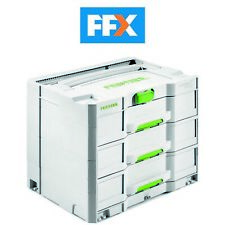 Festool 200119 SYS 4 TL-SORT/3 3 Drawer Sortainer 396x296x322mm For Systainer