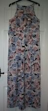 BNWT £45 Dorothy Perkins Pink Blue Rose Print Lightweight Strappy Maxi Dress 16