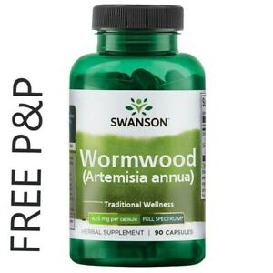 SWANSON Wormwood, Strong 425mg Dose 90 CAPS Artemisia Annua SWEET ANNIE Free P&P