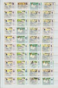 MALAYSIA STATES 1971, BUTTERFLIES, 150 STAMPS