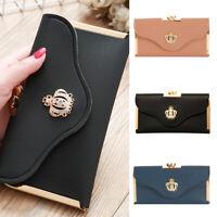 Femmes portefeuille PU cuir sac à main carte téléphone titulaire embrayage sac