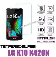 PELLICOLA IN VETRO TEMPERATO PER LG K10 K420N TEMPERED GLASS PROTEZIONE DISPLAY