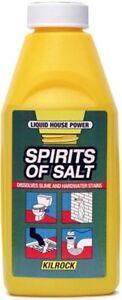 Kilrock Spirit of Salt 500ml Dissolves Slime and Hardwater Stains