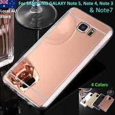Clear Mirror Soft TPU Case For Samsung Galaxy Note5 Note4 Note3 Note7 case Gold