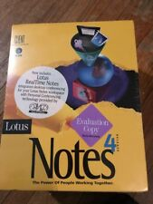 Lotus Notes 4 Software Package, PC Win, New in original wrap. Evaluation copy