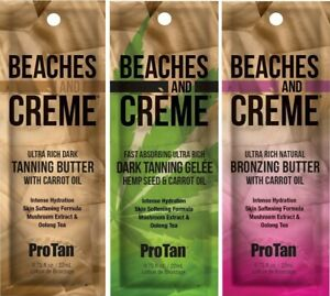 Pro Tan Beaches and Creme Sunbed Tanning Lotion Cream Collection + Free Goggles