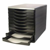 10 Drawer Hard Plastic Desktop Paper Filing Cabinet Trays Desk Organiser