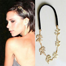Hot Women Golden Olive Leaf Head Chain Jewelry Headband Head Piece Hair Band