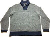 J Crew Mens Gray Long Sleeve Wool Sweater Size XL