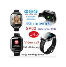 New 4G/LTE Waterproof GPS Track Watch/Video call D55