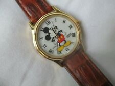 Lorus Mickey Mouse Brown & Gold Toned Wristwatch w/ Adjustable Band