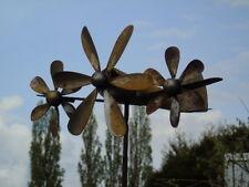 girouette ou éolienne avion en fer forgé, tourne avec le vent , superbe ...