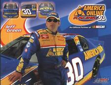 2002 Jeff Green America Online AOL Chevy Monte Carlo NASCAR Winston Cup postcard