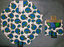 New listing ( 4 ) Earth Wrap Reusable Sandwich Wrap & Place Mat ( Think Green )