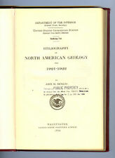 Lot of 2 JOHN M NICKLES Bibliography North American Geology 1921-22 & 1923-24 HB