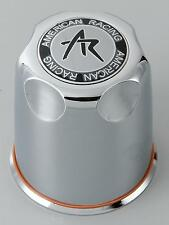 "(4) American Racing 3.27"" Plastic CHROME Center CAPS Fit 5 Lug AR Rims 1327000s"