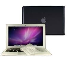 """3 in 1 Crystal BLACK Case for Macbook Air 11"""" A1370 + Key Cover + LCD Screen"""