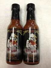 2 SCARP'S SMOKIN HOT SAUCE BHUT JOLOKIA GHOST PEPPER HOTTEST SCOVILLE NO EXTRACT