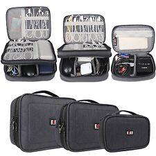 Electronics Accessories Storage Bag Nylon Organizer Travel Case Pouch 3Piece Set